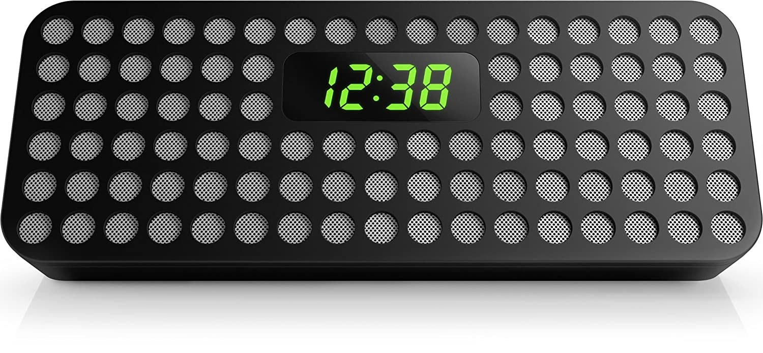 Amazon.com: Philips Bluetooth Wireless Speaker with Clock Display (Black) (Certified Refurbished): Home Audio & Theater
