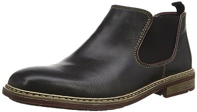 Rieker Herren B1282 Chelsea Boots, Schwarz (Nero Bordeaux   00), 40 9e03eb96ea