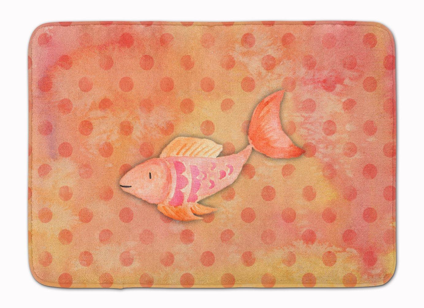 Carolines Treasures Orange Fish Watercolor Floor Mat 19 H x 27 W Multicolor