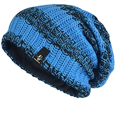 ce7f5c1c61a FORBUSITE Mens Slouchy Long Oversized Beanie Knit Cap for Summer Winter B08  (B103-Bright