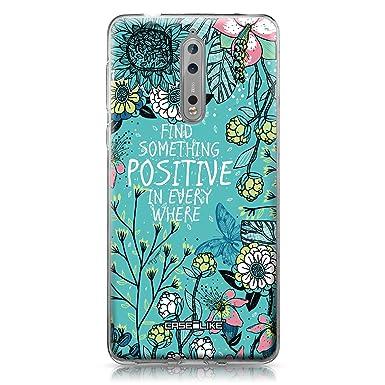 f2d051eb87 CASEiLIKE Nokia 3 case, Blooming Flowers Turquoise 2249: Amazon.co.uk:  Electronics
