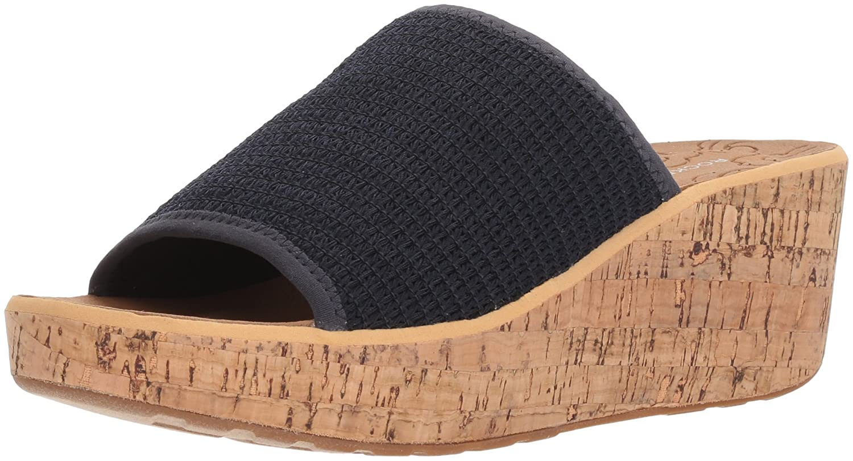 Rockport Women's Lanea Woven Slide Sandal B073ZVPTTJ 10 B(M) US|Navy Woven