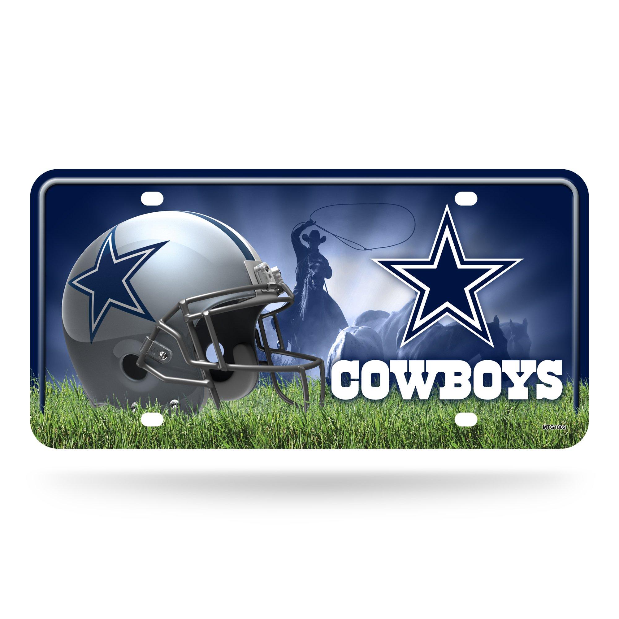 NFL Dallas Cowboys Metal License Plate Tag
