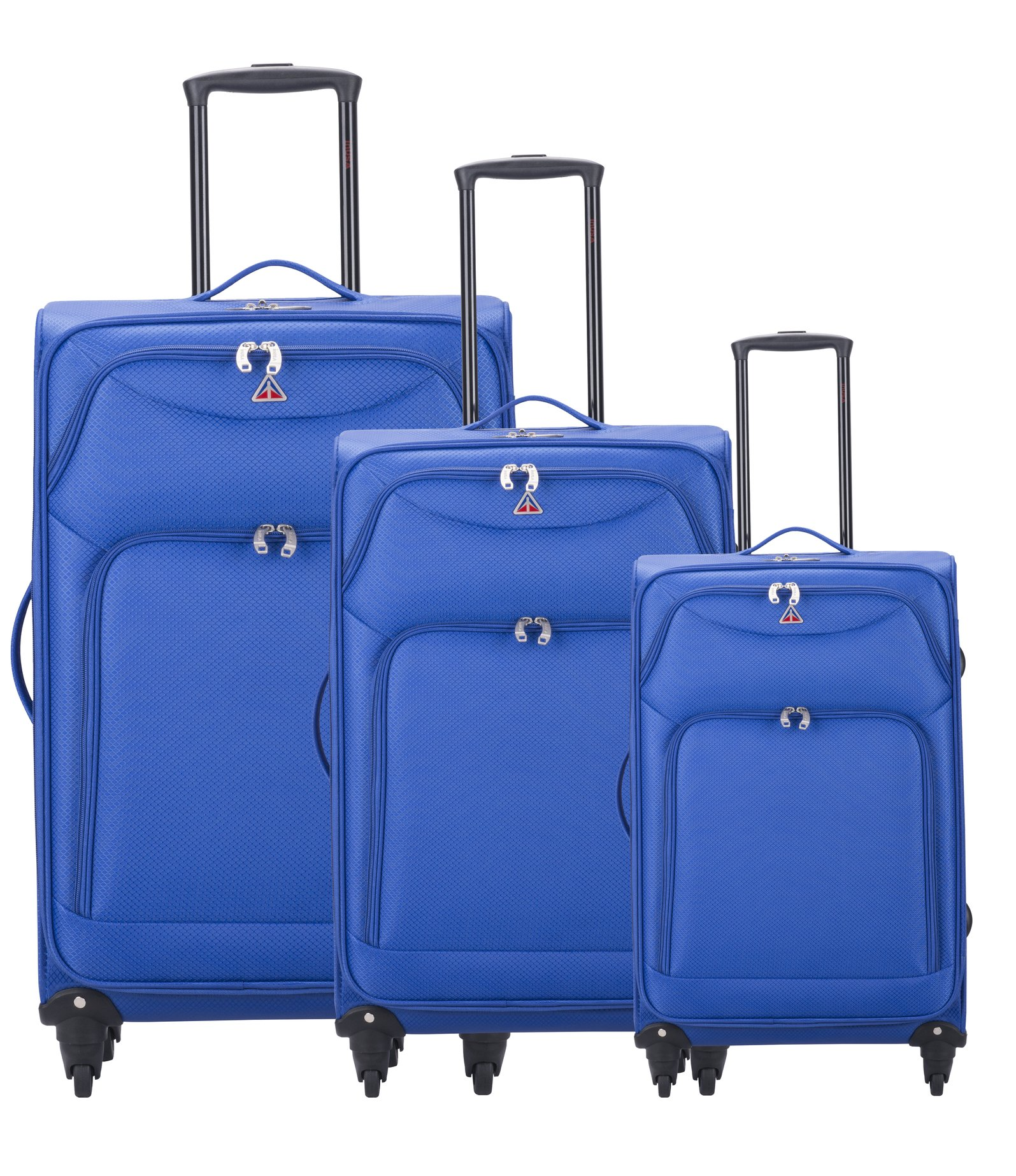 InUSA Luggage Light-Fi ultra-light spinner 3 Piece Set, 20''/24''/28'',Blue