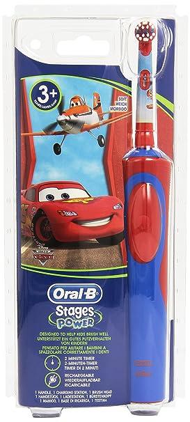 Braun StagesPower - Cepillo de dientes infantil eléctrico de rotación, color rojo y azul: Amazon.es: Salud y cuidado personal