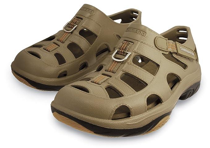 Shimano Evair Marine Fishing Shoes; Size 11; Khaki/Blk
