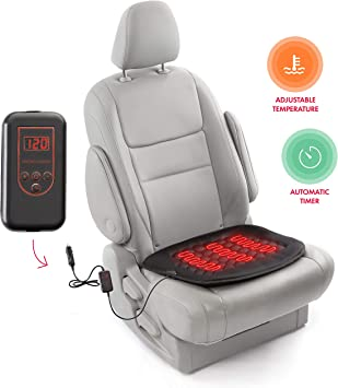 Durable Car Seat Heated Cover 12V Front Seat Heater Auto Winter Warmer Cushion Portable Automobile Accessories Black