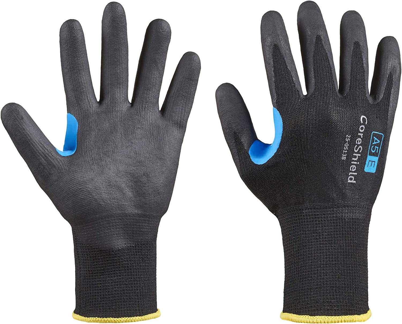 Honeywell CoreShield, 13 gauge HPPE/stainless steel black liner, nitrile micro-foam black coating, A5/E
