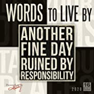 2020 Calendar: Words to Live by 16-Month 2020 Wall Calendar