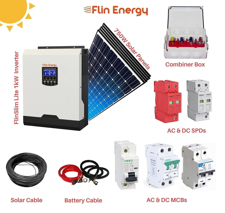 Flinkit 1000 Solar Package With Flinslim Lite 1kva 1kw 12v Inverter Block Diagram Energy Pinterest 5 X Panels Garden Outdoors