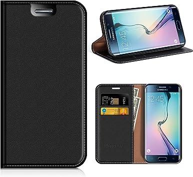 MOBESV Funda Cartera Samsung Galaxy S6 Edge, Funda Cuero Movil ...