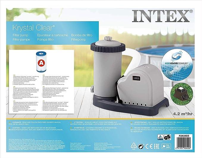 INTEX /Épurateur /à Cartouche Blanc 2.7m3//h