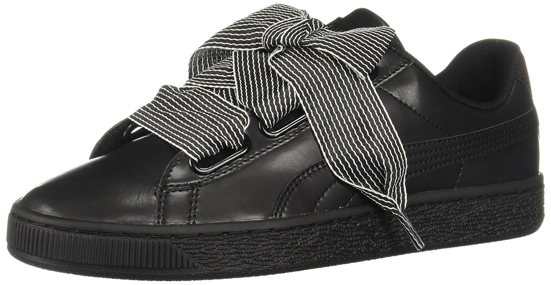 PUMA Women's Basket Heart Wn Sneaker B07525F3C9 7.5 M US|Puma Black-puma Black