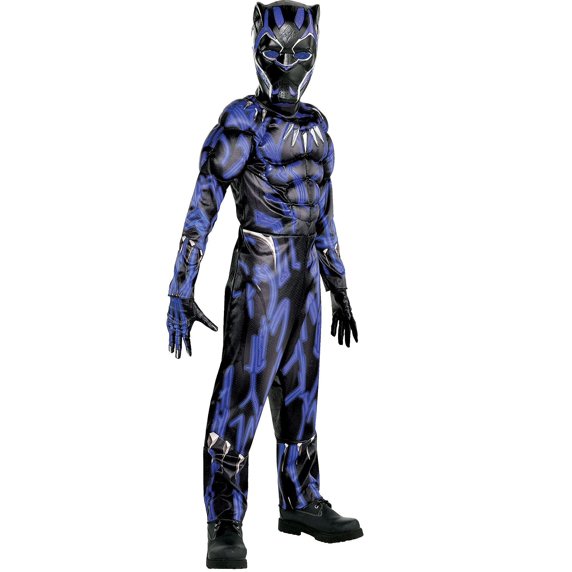 Suit Yourself Black Panther Muscle Halloween Costume for Boys, Black Panther Movie, Medium, Includes Accessories
