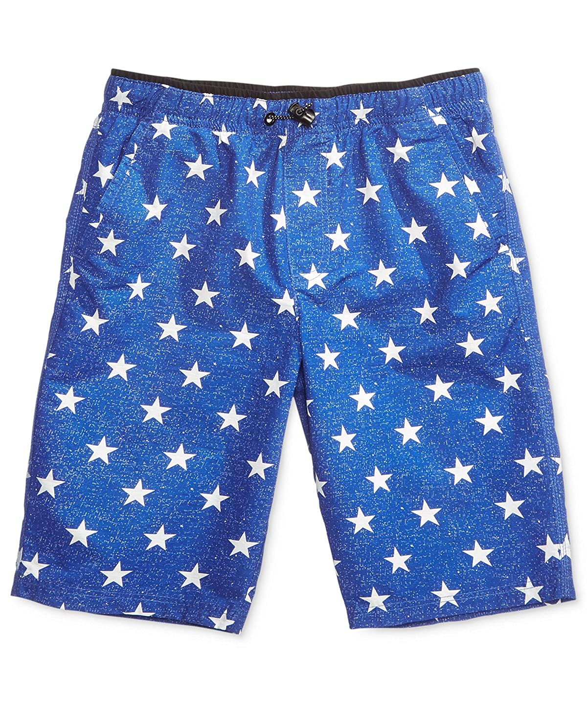Univibe Graphic-Print Shorts Blue Size: L Big Boys