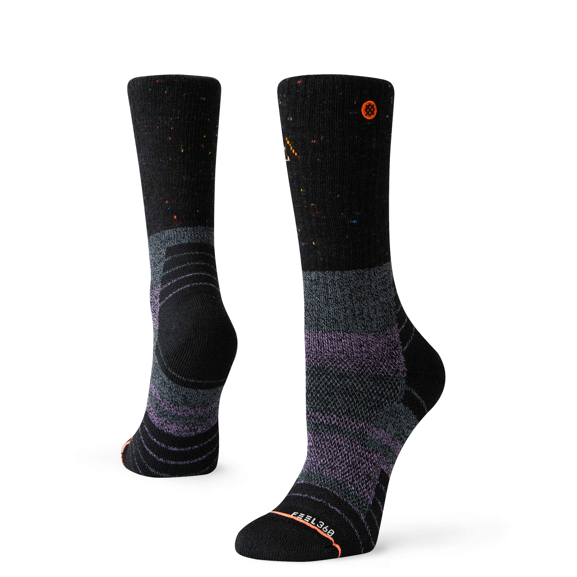 Stance W588A19AME Women's AMETHYST HIKE Crew Socks, Black - M by Stance