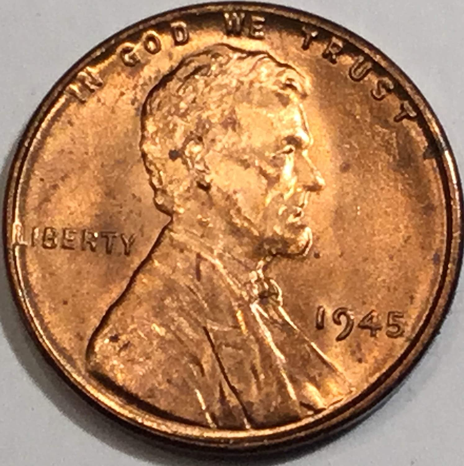 BU 1953 P LINCOLN WHEAT CENT BEAUTIFUL RED BRILLIANT UNCIRCULATED