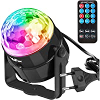 YaFex Mini Luces Discoteca Luz del Escenario Luces de Etapa ,7 Colores RGB LED Làmpara del Partido para Disco, Fiesta…