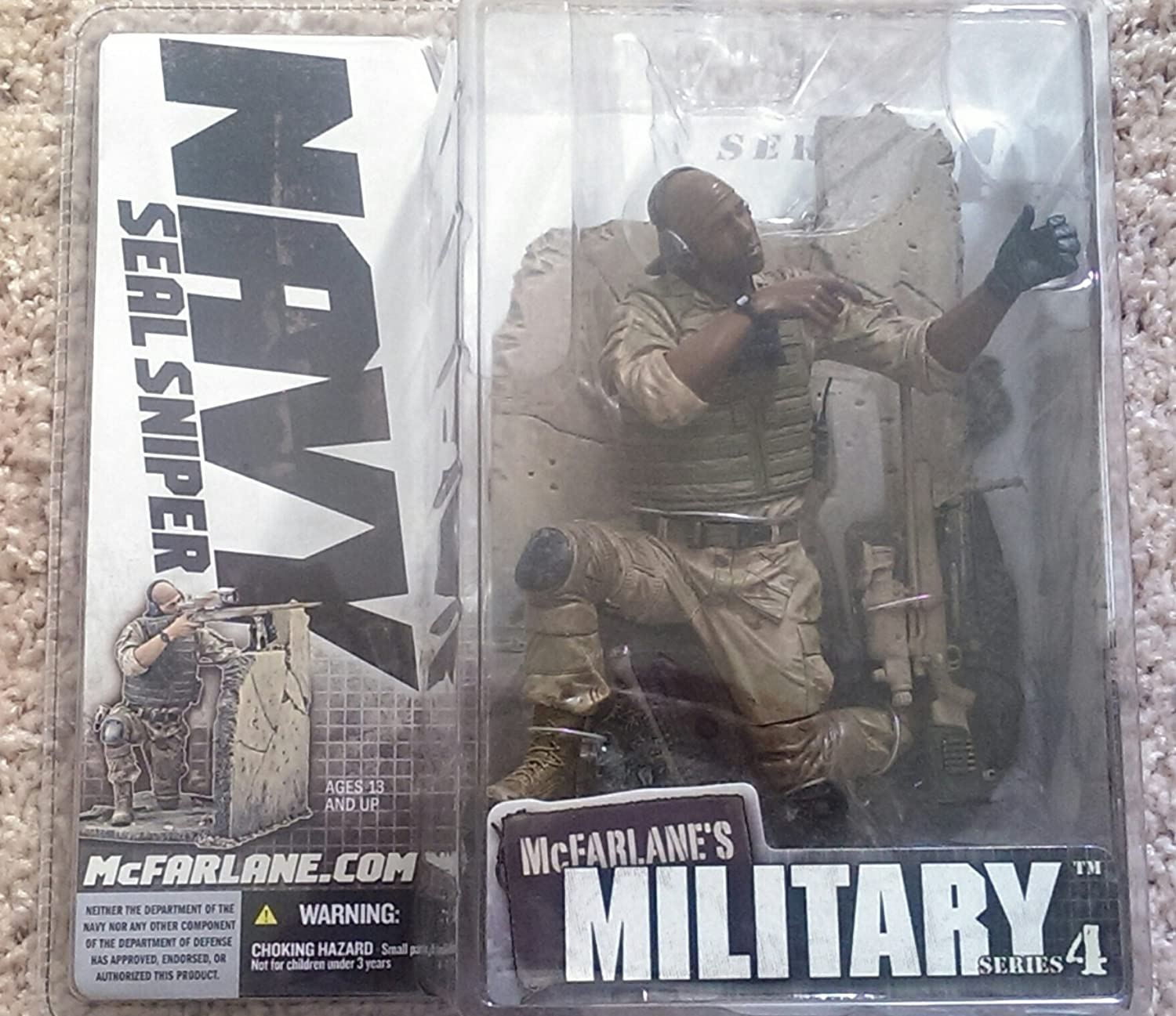 McFarlane Soldiers Second Tour of Duty Navy Seal Commando Action Figure FREE SHI
