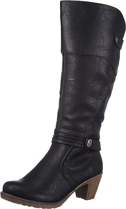 Rieker 91552 Damen Langschaft Stiefel: : Schuhe 9uHeU