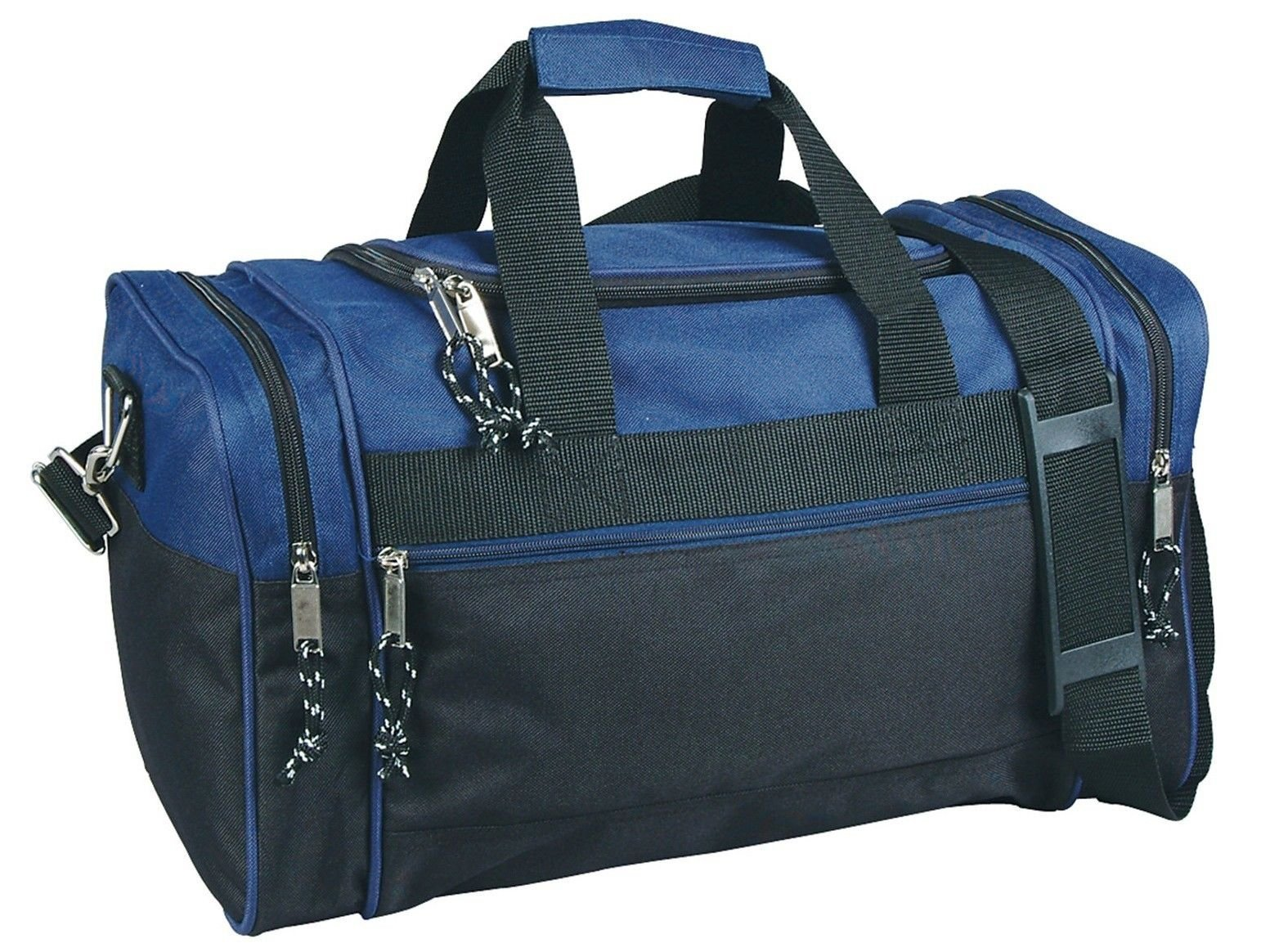 17'' Blank Duffle Bag Duffel Travel Camping Outdoor Sports Gym Accessories Bag (17'' - Navy)