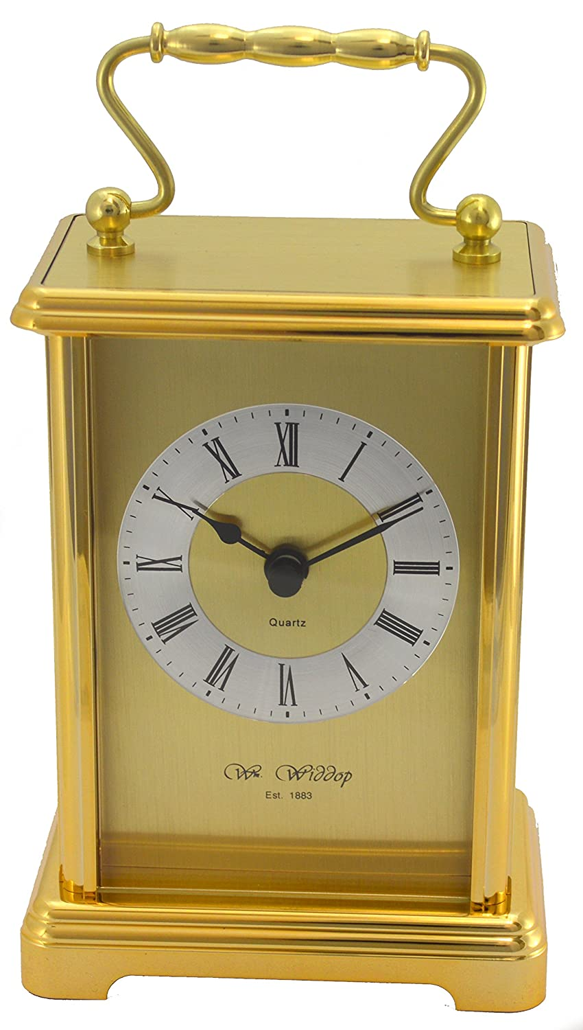 Gold Colour Two Tone Gilt Carriage Clock