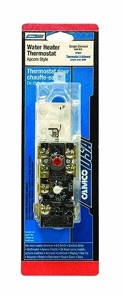 Camco 07843 único elemento calentador de agua termostato con HLC: Amazon.es: Bricolaje y herramientas