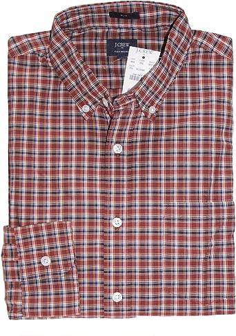 Plaid Heathered Poplin Shirt J Crew Mens Classic Fit
