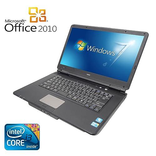 【Microsoft Office 2010搭載】【Win 7搭載】NEC VY22G/X-A/新世代Core i3 2.26GHz/メモリ4GB/HDD160GB/大画面15.6インチ/無線LAN搭載/中古ノートパソコン