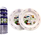 Bariatric Surgery 8 Inch Melamine Plates (x2) Plus 100 Cal Snack Container Set with Easy Instructions for After Gastric Bypas