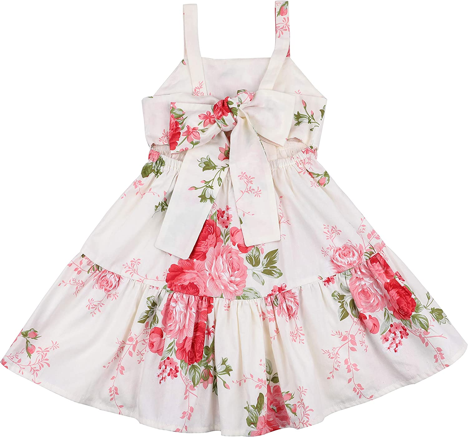 1-4Years,SO-buts Toddler Baby Girls Summer Sleeveless Retro Sleeveless Floral Print Lace Dresses Clothes