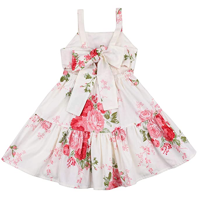 e8904c71c Amazon.com  Flofallzique Vintage Floral Blue Girls Dress Baby ...
