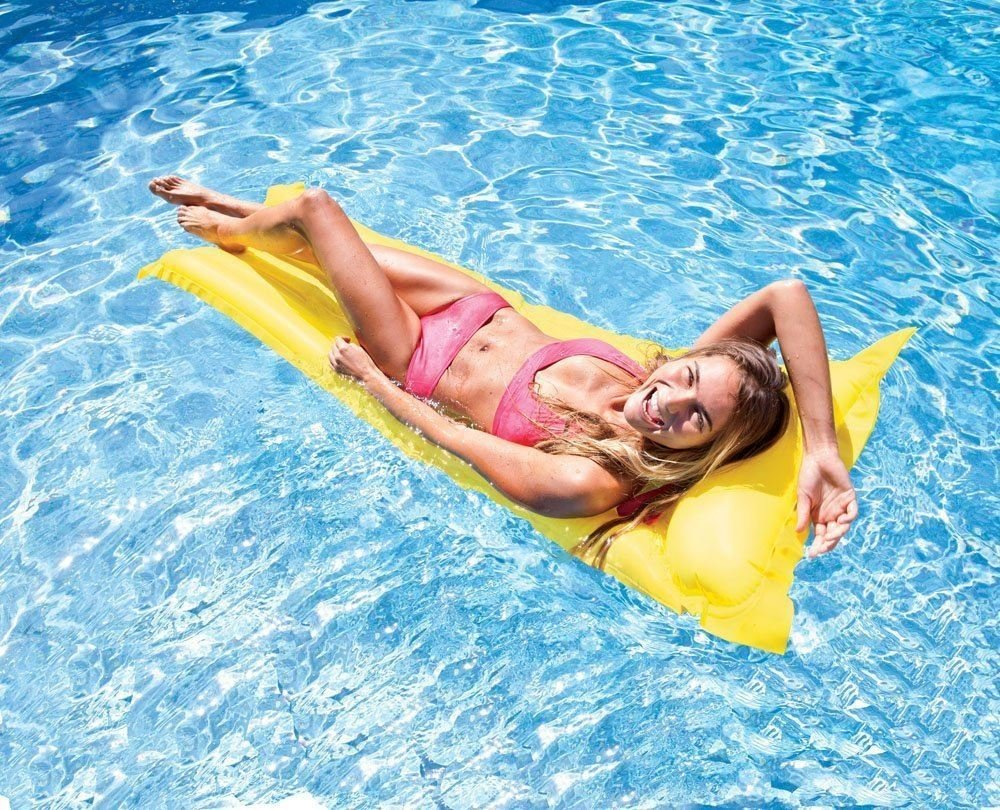 Amazon.com: INTEX Inflatable Lilo Lounger Swimming Pool Float Air Bed Mat  Airmat Lounge: Toys U0026 Games