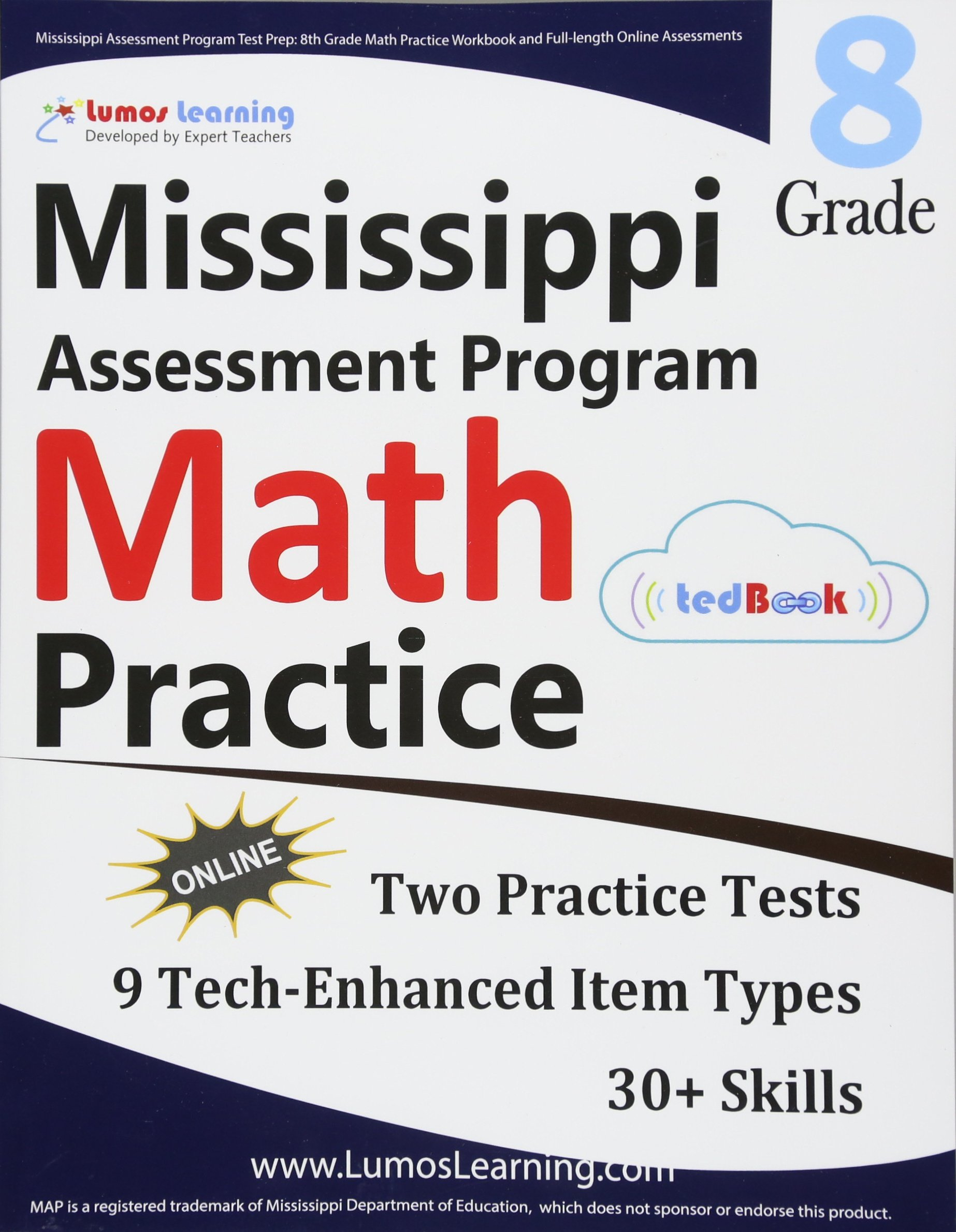 Mississippi Assessment Program Test Prep 8th Grade Math Practice