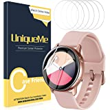 [6 Pack] UniqueMe for Samsung Galaxy Watch Active /Active 2(40mm) Screen Protector, TPU Clear Soft Film,HD Clear, Anti-Scratch