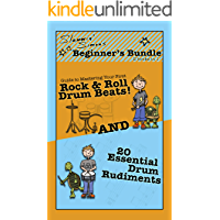 "Slammin' Simon's Beginner's Bundle: 2 books in 1!: ""Guide to Mastering Your First Rock & Roll Drum Beats"" AND ""20… book cover"