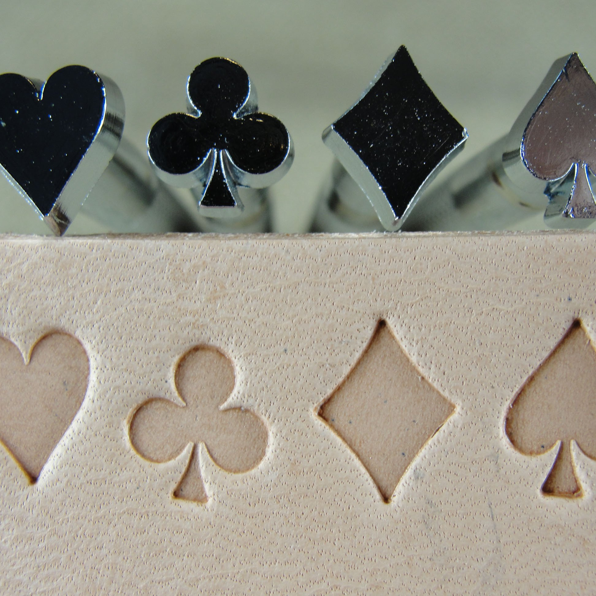 Craft Japan - Playing Card Suit Stamps (4-Piece Set, Leather Stamping Tools) by Pro Leather Carvers