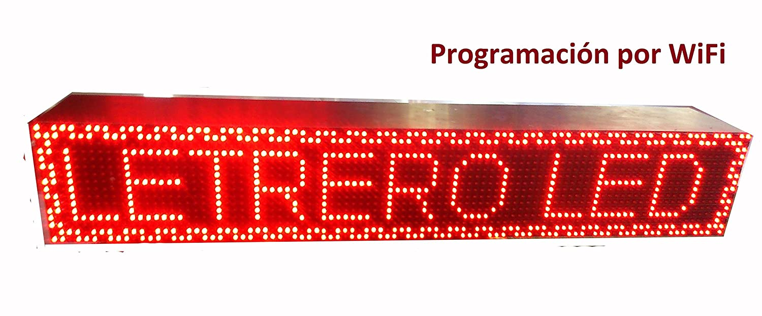 Cartel LED programable por WiFi / Letrero programable ...