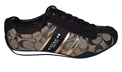 b57e7e6fa Image Unavailable. Image not available for. Color: Coach Remonna Signature Sneaker  Shoes Khaki Gold ...