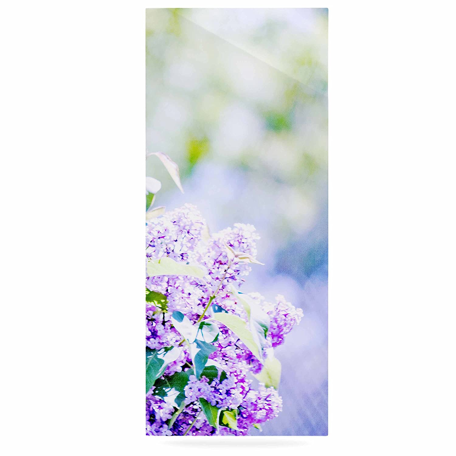 24 x 36 Kess InHouse Sylvia Coomes Hazy Purple Flowers Lavender Nature Luxe Rectangle Panel