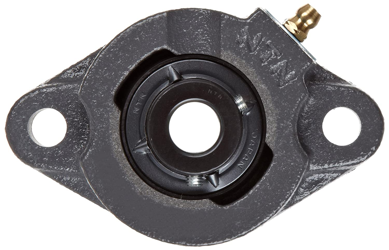 NTN UCFL204-012D1 Light Duty Flange Bearing 3//4 Bore Setscrew Lock 2 Bolts Contact and Flinger Seals Regreasable 2-3//8 Height Cast Iron 3-35//64 Bolt Hole Spacing Width