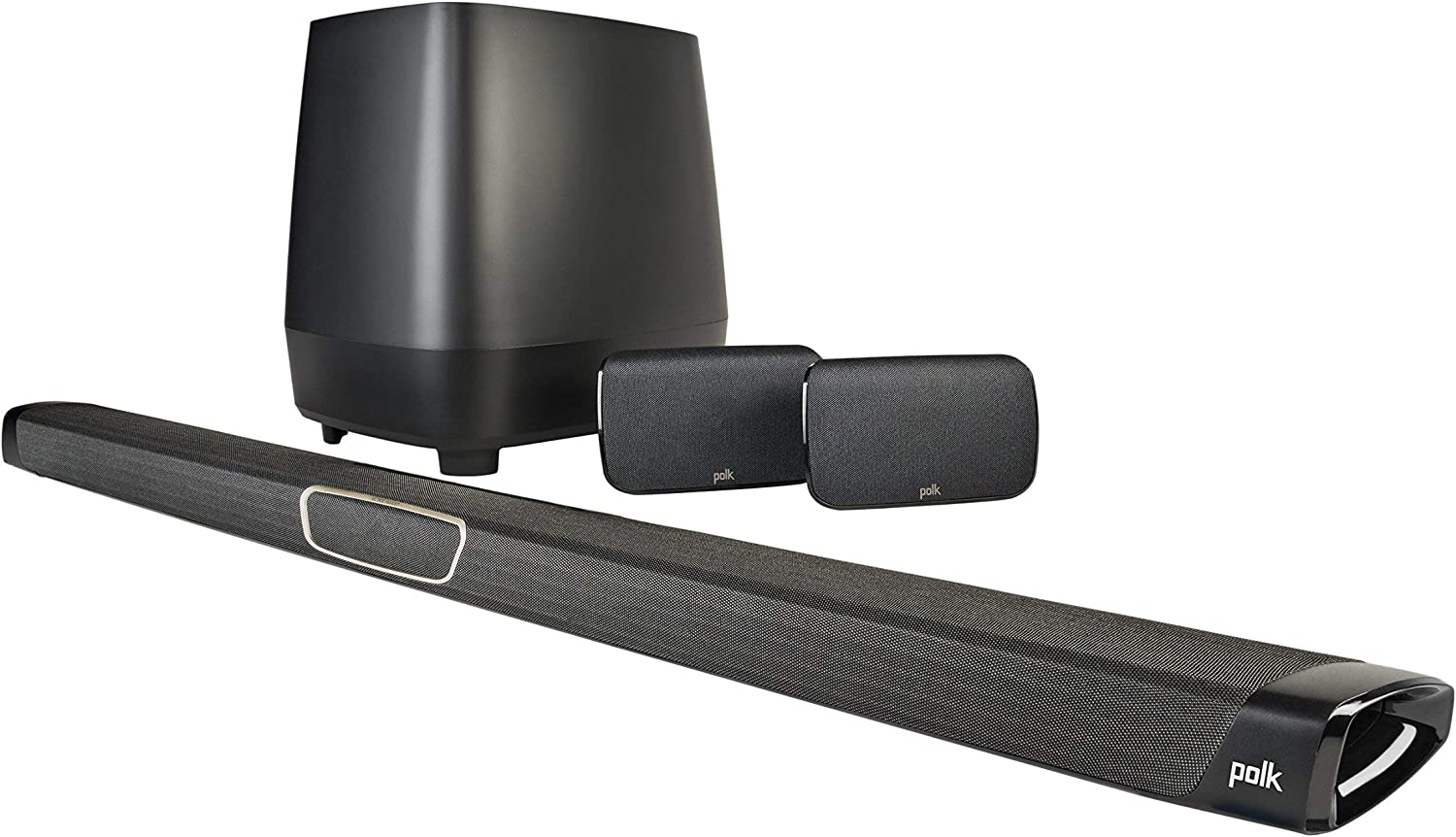 Polk Audio MagniFi Max SR Home Theater Surround Sound Bar | Works with 4K & HD TVs | HDMI, Optical Cables, Wireless Subwoofer & Two Speakers Included (Renewed)