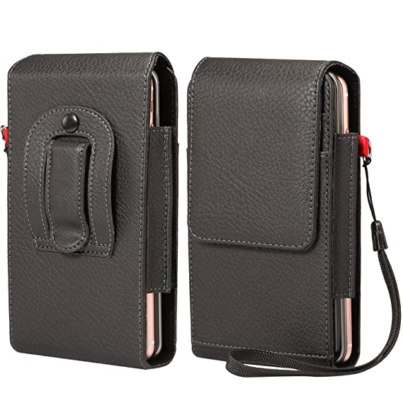 detailed look c0769 91244 Two-Layers Belt Clip Case Phone Holster Pouch Cards Holder Wristlet  Compatible iPhone Xs Max / 8 Plus/Motorola Z3 Play / G6 Play/HTC U12  Plus/Blu Vivo ...