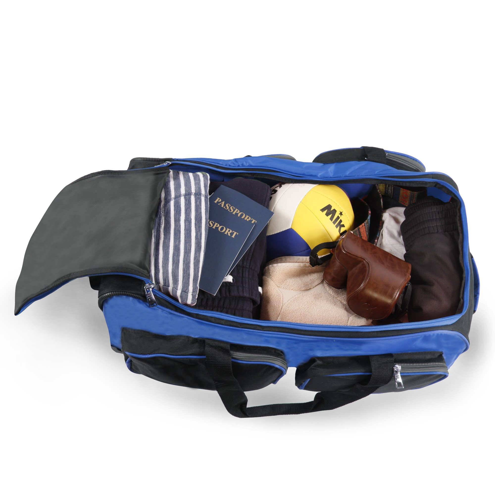 Fila 26'' Lightweight Rolling Duffel Bag, Blue, One Size by Fila (Image #4)