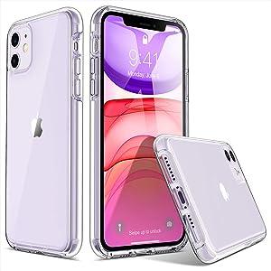 ULAK iPhone 11 Case, Ultra Clear Hybrid Protective Case Slim Fit Transparent Anti-Scratch Shock Absorption TPU Bumper Cover Designed Phone Case for iPhone 11 6.1'' (2019), HD Clear