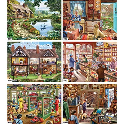 White Mountain Puzzles 6-in-1 Steve Crisp Collection - 3600 Piece Jigsaw Puzzle: Toys & Games
