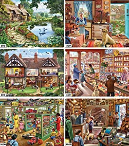 White Mountain Puzzles 6-in-1 Steve Crisp Collection - 3600 Piece Jigsaw Puzzle