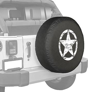 Hiram Cotton Spare Tire Cover Wolf E Aurora Copriruota in Poliestere Impermeabile Universale per Camper Jeep Camper SUV Camper E Veicolo