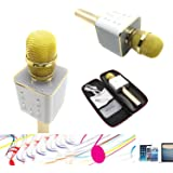 YOCILO Bluetooth Speaker Karaoke Player Oro Microfono wireless per Karaoke Player Karaoke Compatibile per il telefono cellulare iPhone e Android o PC con USB