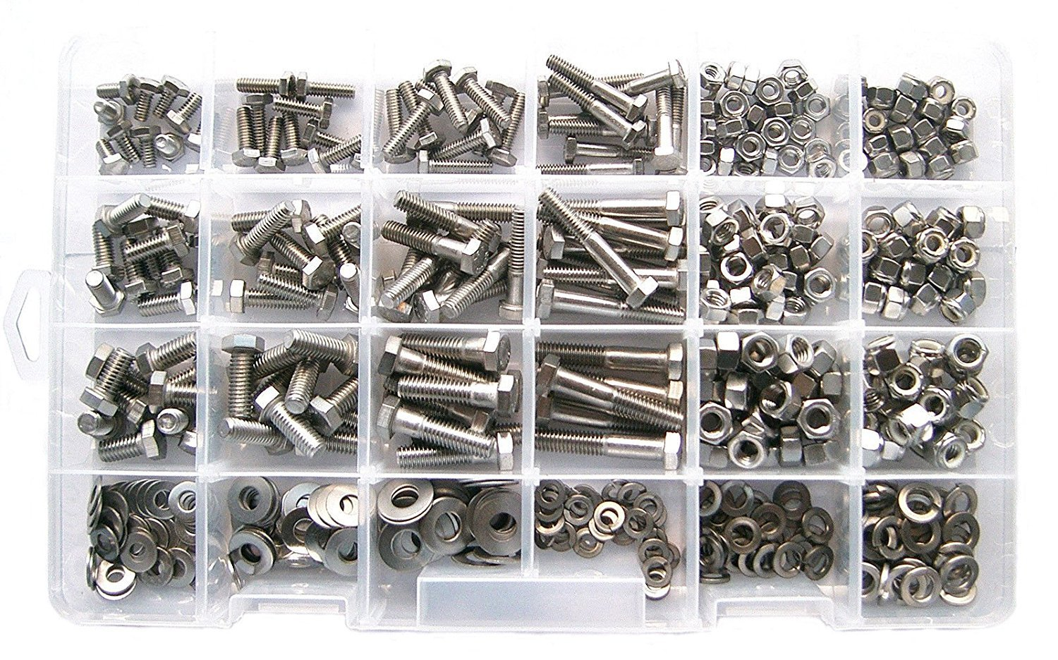 Generic ad Bolt (475 Piece Kit) r Kit Asso Assortment 5 Piece Stainless Steel er Kit Asso Hex Head Bolt s Steel Hex H Master Kit ss St